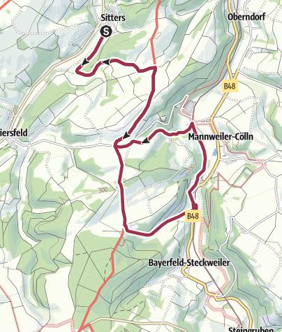 Karte / hahnmühle hin und zurück 12 km