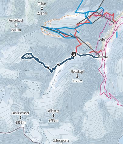Karte / Blankuskopf-Brandnertal