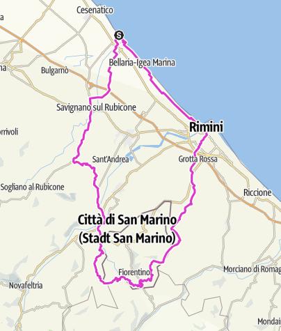Karte / Str.IT.CE02.96.1400 Rimini San Marino