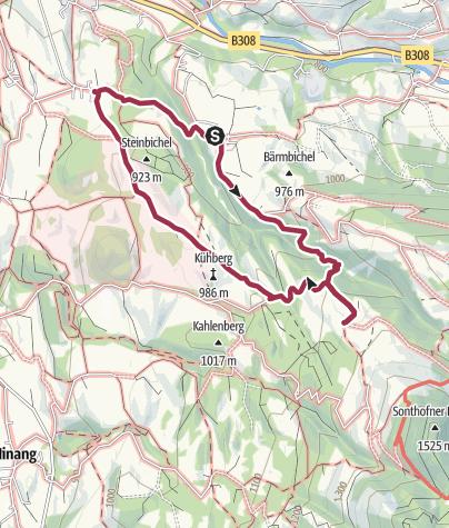 Karte / Von Imberg zum Sonthofer Hof