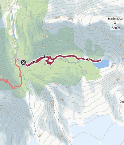 Karte / Briksdalsbreen