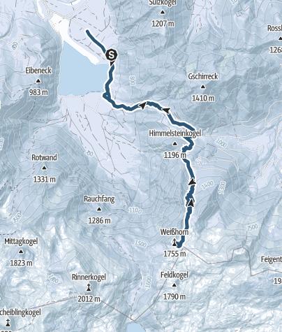 Karte / Weißhorn von Offensee