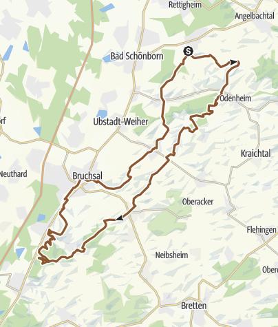 Cartina / Östringen Ungeheuerklamm