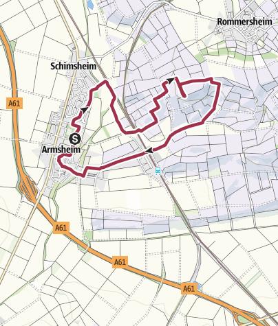 Karte / Rund um den Wiesbach