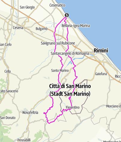 Map / Str.IT.CE04.103.1650.San Marino San Leo
