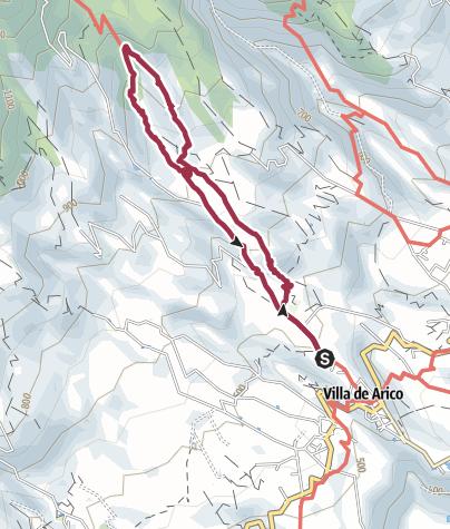 Karte / 9. März 2016 Villa de Arico über Ortiz in den Kletterfelsen