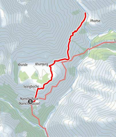 Map / 18.3. - Namche Bazar to Phorste Thanga