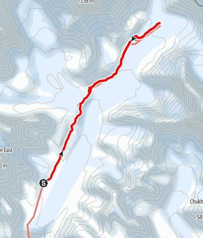 Map / 25.3. - Lobuche-Gorakshep-EBC-Gorakshep