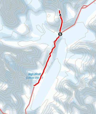 Map / 26.3. - Gorakshep -Kalapathar-Lobuche
