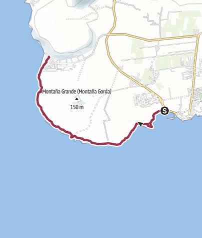 Karte / 11. März 2016 Küstenwanderung von Las Galletas nach Palm Mar