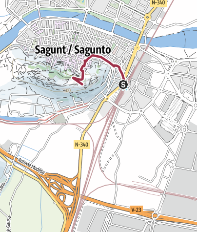 Mapa / Un viaje por el tiempo en Sagunto
