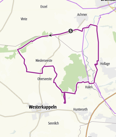 Karte / Radtour: Rundkurs zu den Sloopsteinen in Lotte