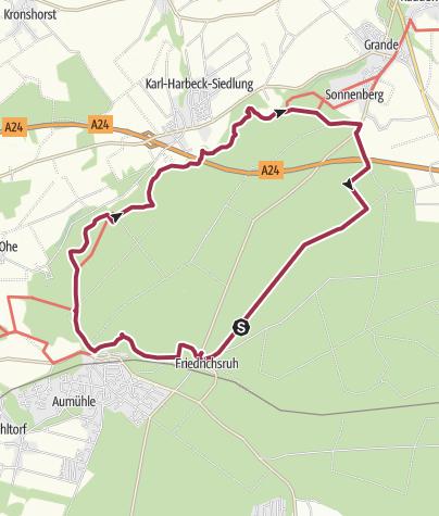 Karte / Sachsenwald - E1 Rundtour