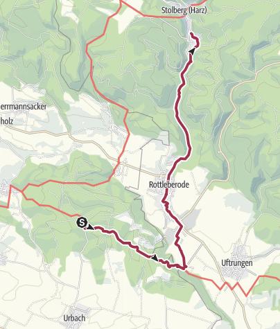 Carte / Kalkhütte - Stolberg