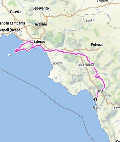 Karte / Tourenplanung am Tag 4