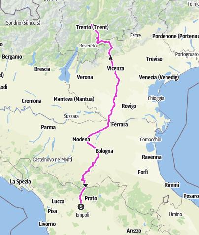 Karte / Tourenplanung am Tag 7