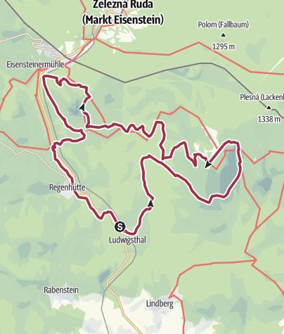 Karte / Höllbachgespreng - Falkensteine - Hochberg