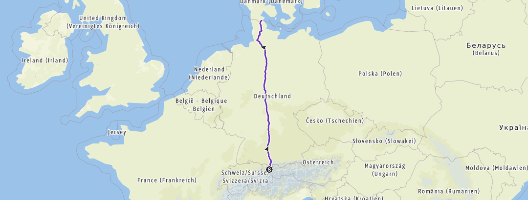 Map / Laufjunkies, Planung Deutschlandlauf Süd-Nord