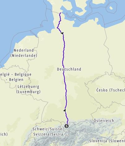 Cartina / Laufjunkies, Planung Deutschlandlauf Süd-Nord