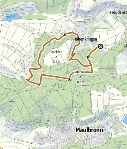 Map / TVH Frühstückslauf 23.04.2017 - Grosse Runde
