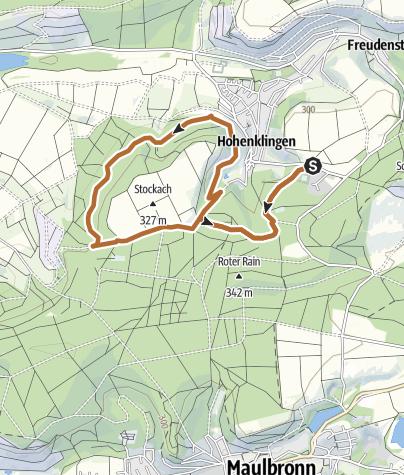 Map / TVH Frühstückslauf 23.04.2017 - Kleine  Runde