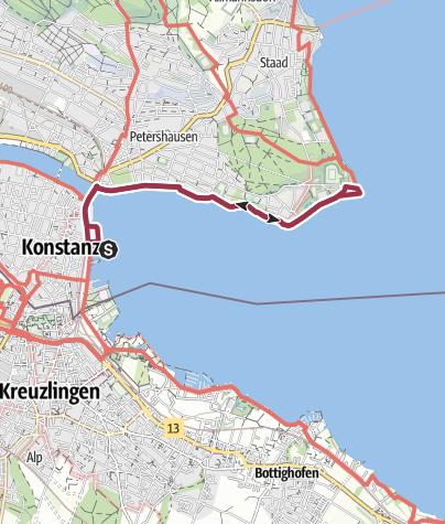 Karte / Uferweg zum Konstanzer Hörnle