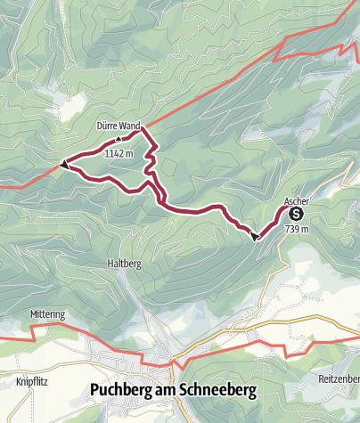 Karte / Ascher - Blättertal - Öhlerschutzhaus - Ascher
