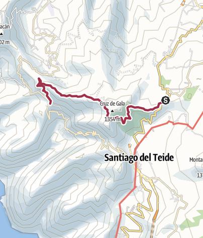 Karte / Teneriffa 1. Wandertag