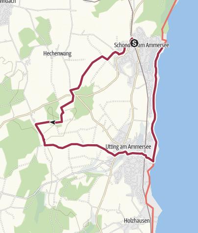 Karte / Ammersee Höhenweg