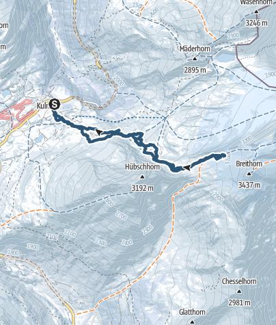Karte / Breithornpass