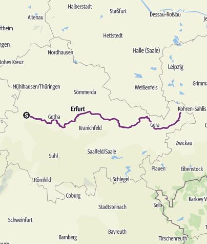 Karte / Tourenplanung am 29. März 2016