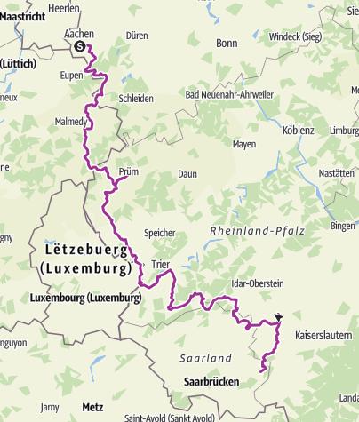 Mapa / Venn-Eifel-Hunsrück Gesamttour