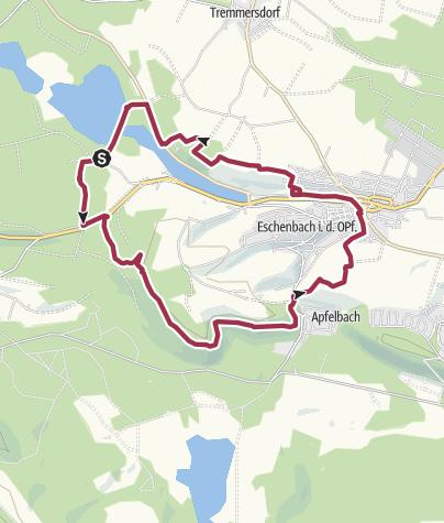 Map / Rundwanderung um Eschenbach