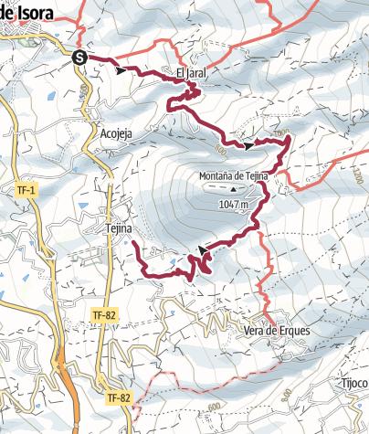 Karte / 30. März 2016 Guia de Isora - El Jaral - Las Fuentes - Tejina de Isora