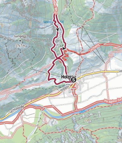 Karte / Hängebrückee Holzgau