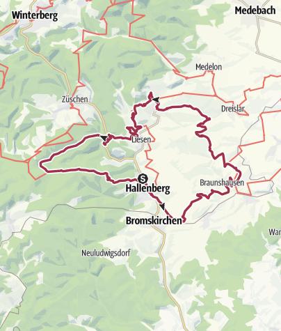 Karte / Hallenberger Wanderrausch