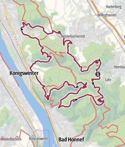 Karte / Über den Gipfeln des Siebengebirges