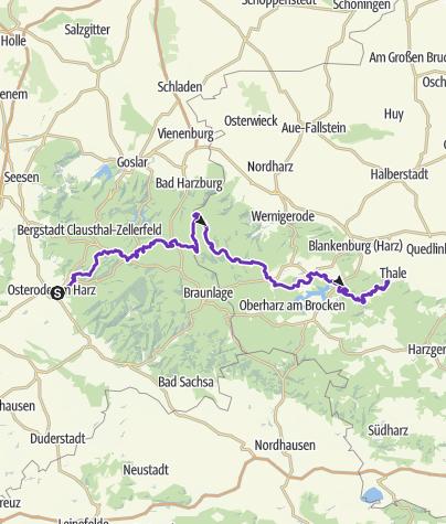Karte / Hexenstieg Ultra (OHA - THALE)