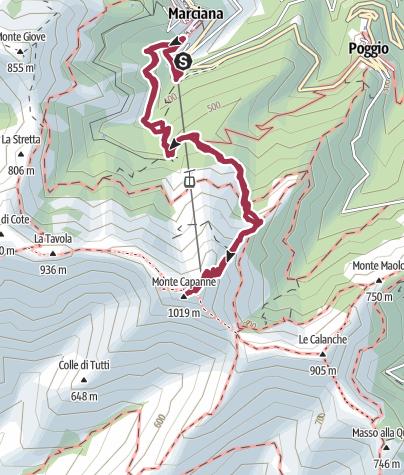Karte / Monte Capanne (1.016 m) - Auf den höchsten Berg von Elba