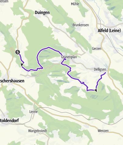 Karte / Ith-Hils-Ultralauf 2. Etappe