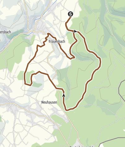 Karte / Goldhübel-Tour: Schwartenberg