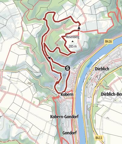 Karte / Tatzelwurmweg Kobern-Gondorf