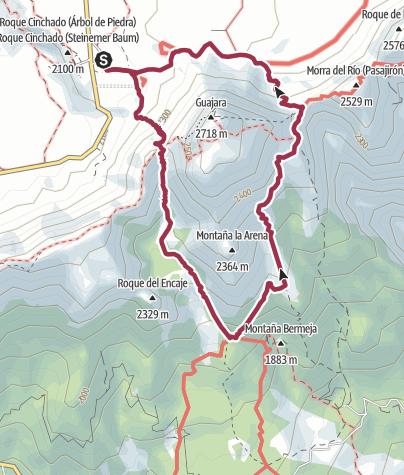 Karte / Umrundung des Guajara