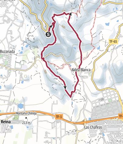 Karte /  8. April 2016 Wanderung ab Mirador de la Centinela nach Altea Blanco