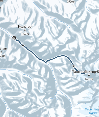 Hartă / AK-Suu Gletscher