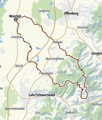 Map / Neuried - Hohengeroldseck - Neuried