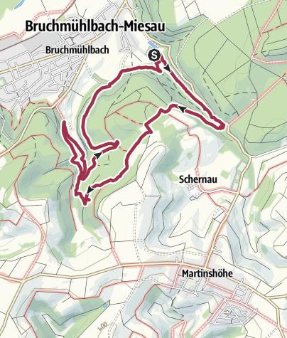 Karte / Bruchmühlbach durch die Elendsklamm 09.04.16
