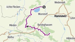 Carte / Vom Steinhuder Meer über Bückegerge zum Deister