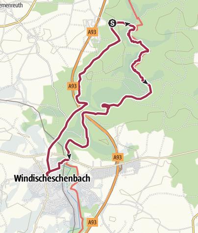 Map / Zoiglwanderung Waldnaabtal - Windischeschenbach
