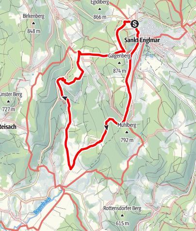Karte / Nagelsteiner Wasserfälle von St. Englmar